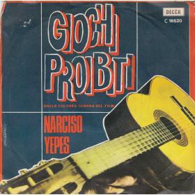 """Narciso Yepes Vinile 7"""" 45 giri Giochi Proibiti - Decca Nuovo"""