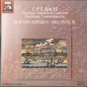 "C.P.E. Bach, van Asperen, Melante 81 2x MC7 ""Hamburg"" Harpsichord Concertos"