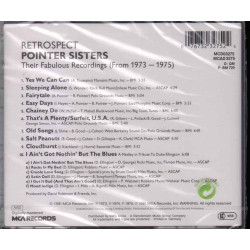 The Pointer Sisters  CD Retrospect Their Fabulous Recordings  Sig 0076732327524