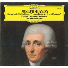 Haydn - English Chamber - Barenboim Lp Vinile Symphonie Nr. 44 / Nr. 49 Nuovo