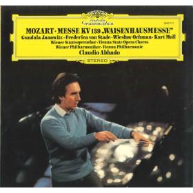 Mozart Abbado Janowitz von Stade Moll Lp Messe KV 139 Waisenhausmesse Nuovo