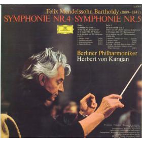 Mendelssohn / Berliner Philharmoniker Karajan Lp Symphonien Nr 4 Nr 5 Nuovo DG