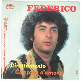 """Federico Vinile 7"""" 45 giri Dirottamento / Canzone D'Amore - M 1607 Nuovo"""