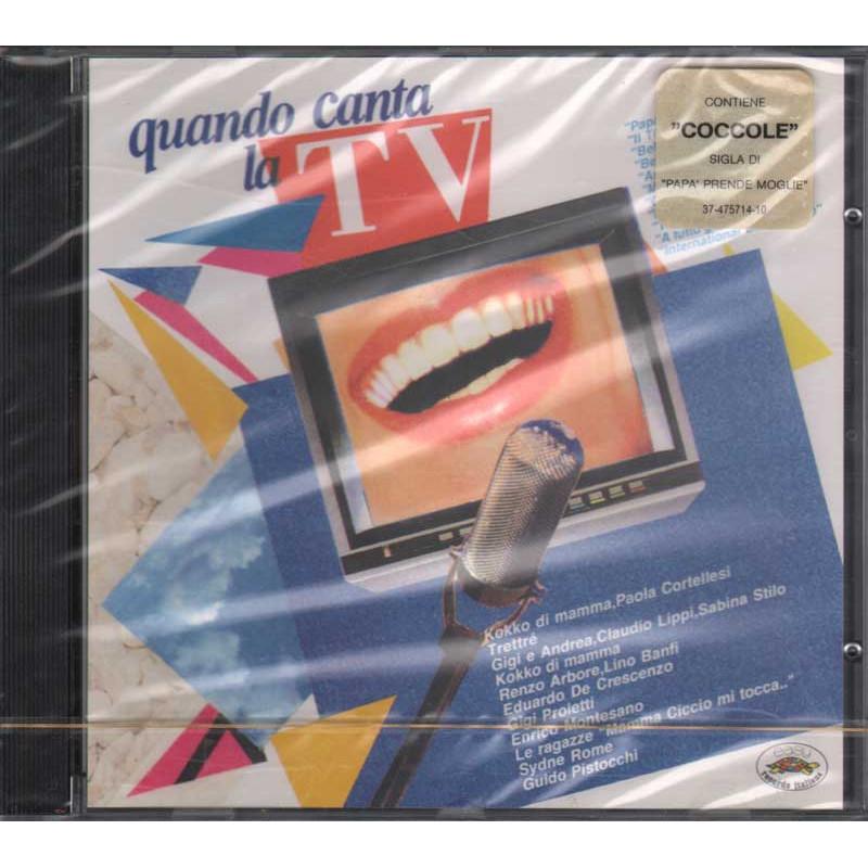 Artisti Vari CD Quando canta la TV Nuovo Sigillato 5099747571428