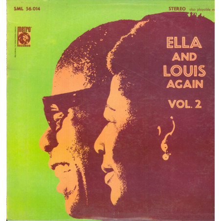 Ella Fitzgerald / Louis Armstrong Lp Vinile Ella And Louis Again Volume 2 Nuovo