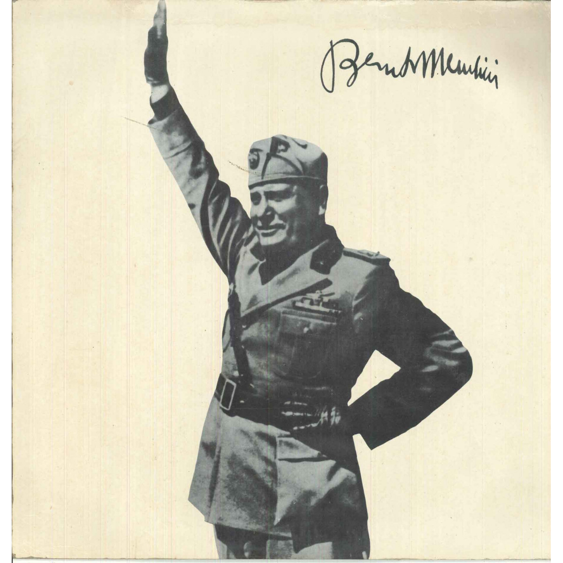 Benito Mussolini Lp Vinile Omonimo Same / Souvenir Record 185/33 186/33 Nuovo