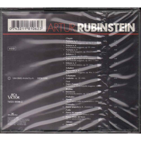 Artur Rubinstein  CD All The Best Classics Nuovo Sigillato 0743211810623