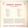 Roberto Murolo E La Sua Chitarra Lp Omonimo Same Durium ms AI 77051 Nuovo