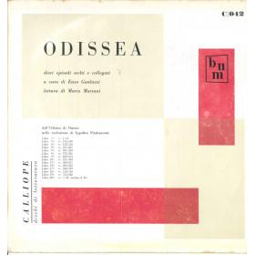 Gualazzi / Mariani Lp Omero Odissea / Calliope Dischi Di Letteratura Nuovo