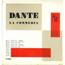 Lazzaro / Pizzardi Lp Dante Inferno / Calliope Dischi Di Letteratura Nuovo