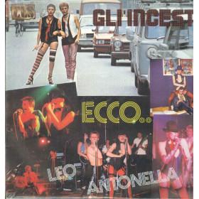 Gli Incesti Lp Vinile Ecco / CLS MD-TP 011 Italia 1978 Sigillato