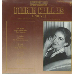 Maria Callas ‎‎Lp Unforgettable Performances (PROVE) CLS MD TP 028 Nuovo