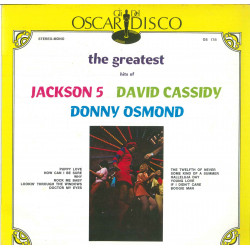 Jackson 5 / David Cassidy / Donny Osmond Lp The Greatest Hits Of / Cover Nuovo