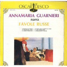 Anna Maria Guarnieri Lp Vinile Favole Russe / Gli Oscar Del Disco Cover Nuovo