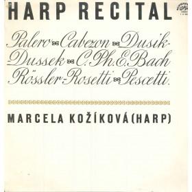 Marcela Kozikova Lp Vinile Harp Recital / Supraphon 1 11 0507 Nuovo