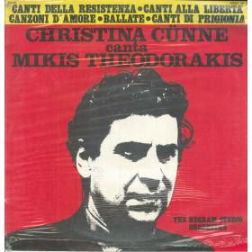 C. Cunne Sings Theodorakis Lp Vinile Canti Della Resistenza Joker SM 3263 Nuovo