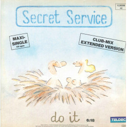"Secret Service ‎Vinile 12"" Do It (Club-Mix Extended Version) TELDEC Nuovo"