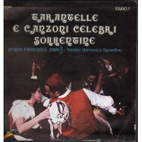 Gruppo Folkloristico 2000 Uno Lp Tarantelle E Canzoni Celebri Sorrentine Nuovo