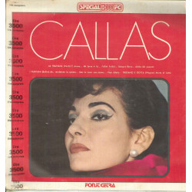 Maria Callas Lp Vinile Omonimo / Same - Fonit Cetra Special 3000 FC Sigillato