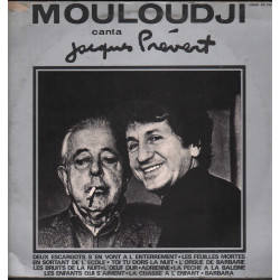 Mouloudji Lp Vinile Mouloudji Canta Jacques Prevert / Joker SM 3261 Nuovo
