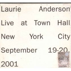 L. Anderson ‎CD Live At Town Hall New York City September 19-20 2001 Sigillato