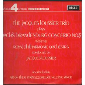 The Jacques Loussier Trio Lp Vinile Bach's Brandenburg Concerto No 5 Decca Nuovo