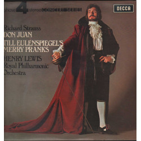 Strauss / Henry Lewis Lp Don Juan / Till Eulenspiegel's Merry Pranks Decca Nuovo