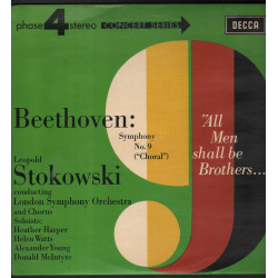 Beethoven / Leopold Stokowski Lp Symphony No. 9 Choral / Decca Phase 4 Nuovo