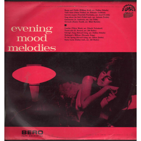 BERO Pops Orchestra Lp Vinile Evening Mood Melodies / Supraphon ‎Nuovo
