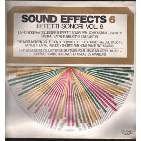 Sound Effects 6 - Effetti Sonori Vol 6 Lp Vinile Vedette VSM 38567 Sigillato