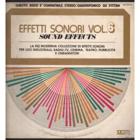 Sound Effects 6 - Effetti Sonori Vol 6 Lp Vinile Vedette VSM 38567 QS Quad Nuovo