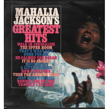 Mahalia Jackson Lp Vinile Mahalia Jackson's Greatest Hits / CBS 32683 Nuovo