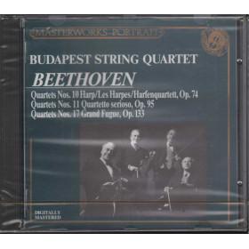 Beethoven / Budapest String Q CD String Quartet Nos 10 11 & 17 / CBS Sigillato