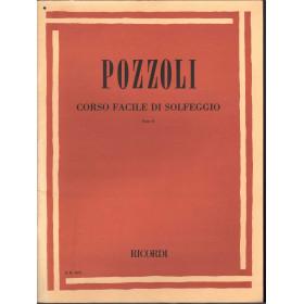 Pozzoli Spartito Corso Facile Di Solfeggio Parte II / Ricordi E.R. 2072 Nuovo