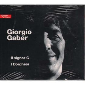 Giorgio Gaber DOPPIO CD Il signor G / I Borghesi Nuovo Sigillato Digipack