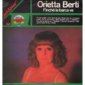 Orietta Berti Lp Vinile Finche' La Barca Va / Polydor 2449 022 Nuovo