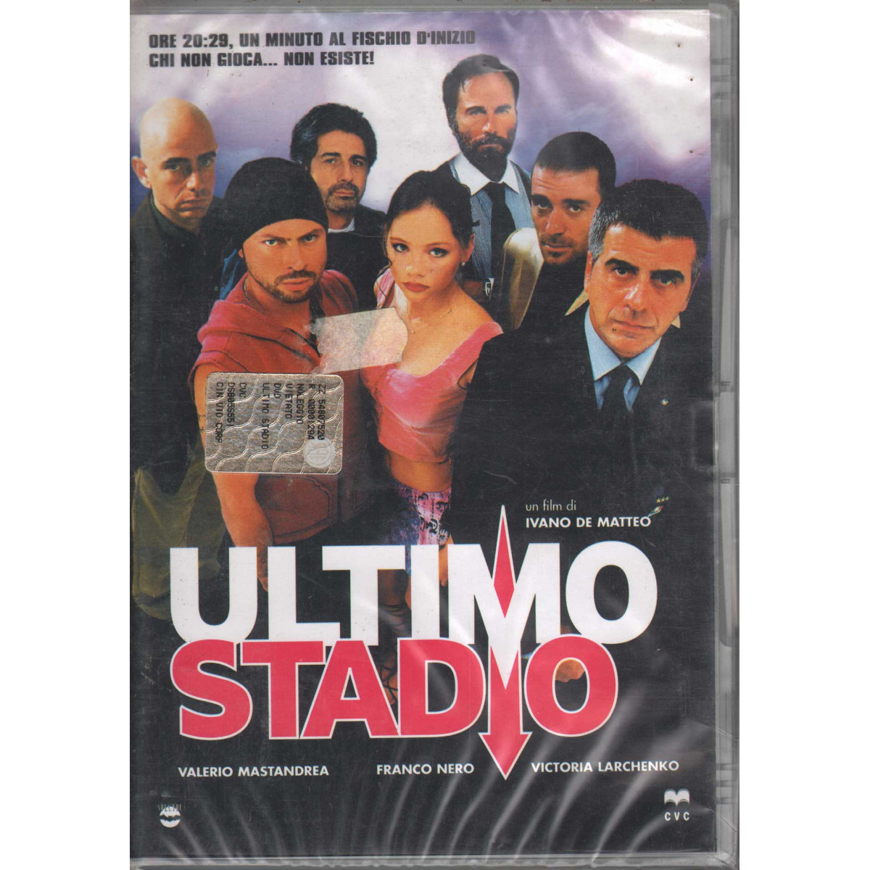 Ultimo Stadio DVD Valerio Mastandrea Ivano DeMatteo Victoria Larchenko Sigillato