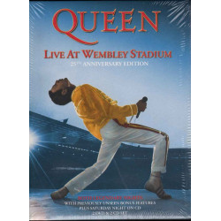 Queen  Cof 2 CD 2 DVD Live At Wembley Stadium Limited Ed Sigillato 0602527795706