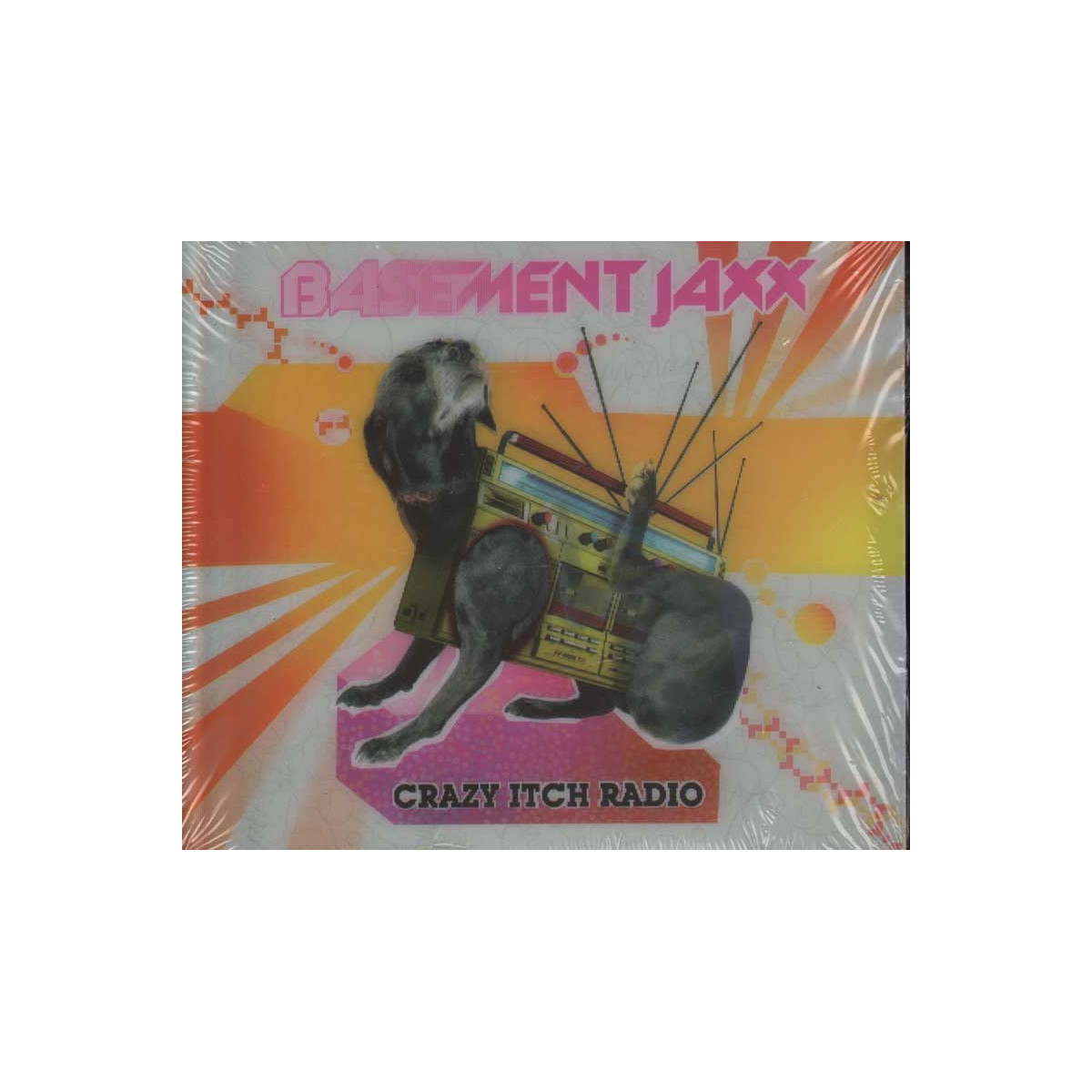 Basement Jaxx CD COVER 3D Crazy Itch Radio Nuovo Sigillato